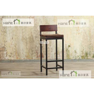 LOFT创业咖啡厅实木桌椅/上海韩尔制造椅厂家