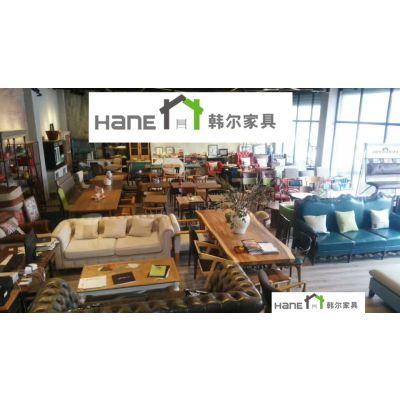 厂家供应上海实木咖啡厅桌子 复古咖啡桌子订做 上海韩尔家具厂