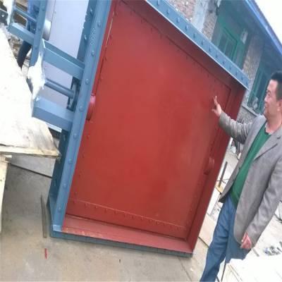 烟气脱硫挡板门 齐鑫生产标准挡板门 各种管道烟道风门