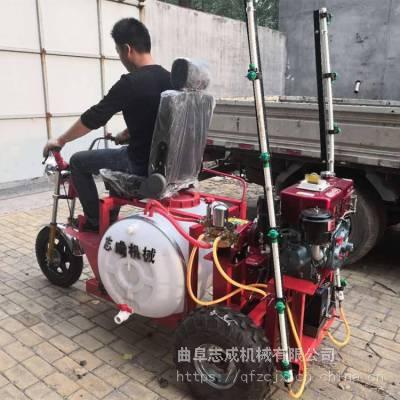 高效率农田杀虫打药机 三轮汽油动力喷药机 自走式三轮打药机参数型号