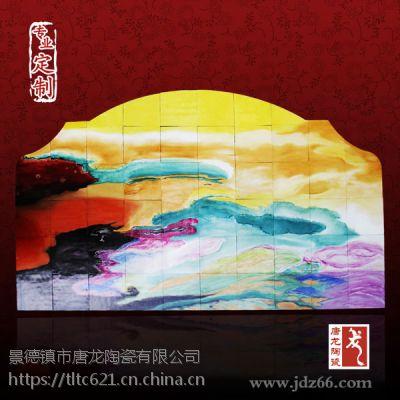 酒店大堂装饰瓷板画 手绘陶瓷画厂家 唐龙陶瓷