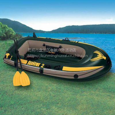 橡皮艇 普洱漂流船 云南省用于水上钓鱼的充气艇 景谷皮划艇批发 景东漂流船价格 西盟抢险钓鱼船