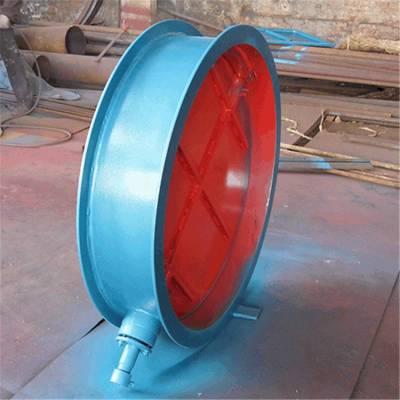 齐鑫供应华东标准风门 圆风门 圆形挡板门 烟气脱硫挡板门