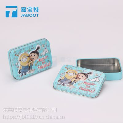 儿童糖果铁盒 蜜炼西瓜霜润喉糖马口铁盒 罗汉果清润糖铁罐定制