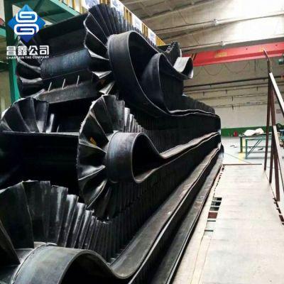 厂家直销昌鑫防滑耐磨挡边橡胶输送带