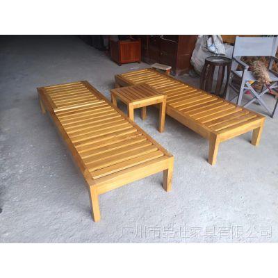 供应水上游乐园实木沙滩躺椅TY-019
