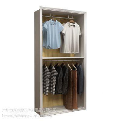 广州河盛服装展示柜设计定制,合板、单板展示架出售