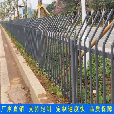 公园绿色绿色带围栏 佛山景区外围墙栏杆价格 高明道路市政隔离栅 镀锌护栏厂家直销