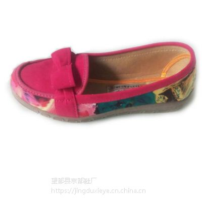 厂家批发销售促销老北京布鞋女平底坡跟防滑软底舒适单鞋妈妈鞋中老年休闲鞋女春秋软底老人鞋子