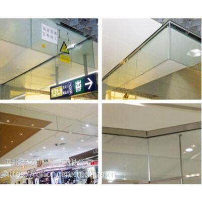 商场用玻璃挡烟垂壁价格|玻璃挡烟垂壁多少钱1米