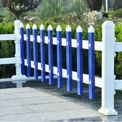 河南新力花园草坪防护栏 美观公园绿化栅栏 白色PVC栏杆 市政绿化锌钢护栏