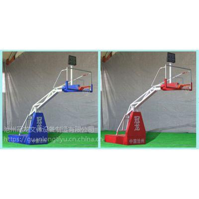 沧州冠龙体育厂家直销遥控升降篮球架/液压篮球架/智力遥控行走篮球机