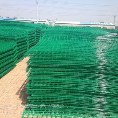 河北优盾圈地护栏网内蒙古双边丝护栏网绿色防护围栏铁丝网