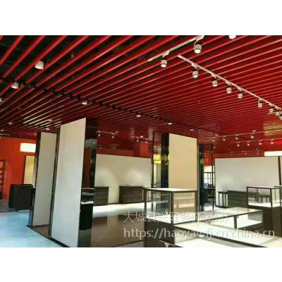 即墨大润发商场铝方通吊顶视觉通透开阔,利于排气散热,通风透气