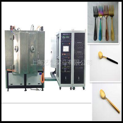 温州刀叉真空镀金机、自动化真空镀膜设备、高效能电镀机械、扑克房app实业
