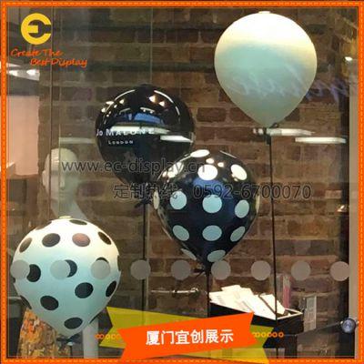 厦门宜创 商场美陈 玻璃钢 气球橱窗 装饰道具定制