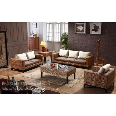 藤格格家具 1028 厂家批发藤木沙发印尼真藤沙发客厅组合五件套藤沙发真藤实木沙发藤木家具