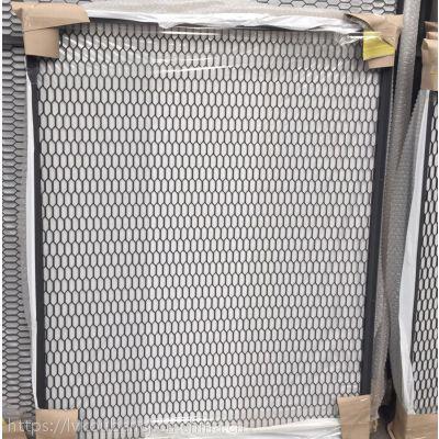 西安菱形孔铝板网价格_铝板网加框定制_天花吊顶幕墙