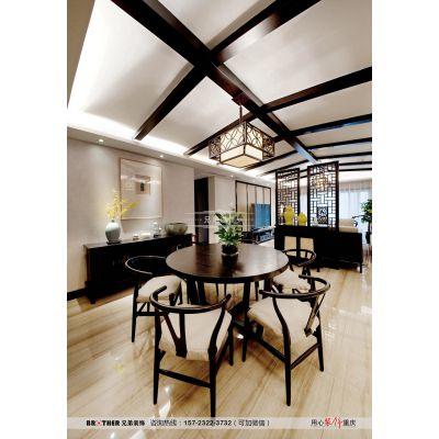 重庆棕榈泉装修|棕榈泉悦江国际装修,棕榈泉大平层装修设计中式实景