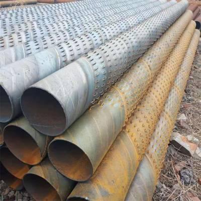 圆孔井管DN800一根长度、厂家生产600井壁管、钢制滤水管 欢迎来电咨询