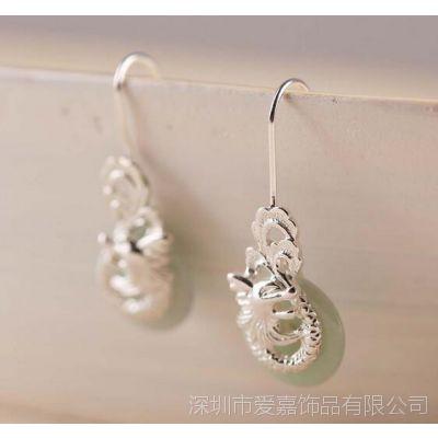 铜耳环 耳钉定做 耳环流苏—金属饰品定做厂家