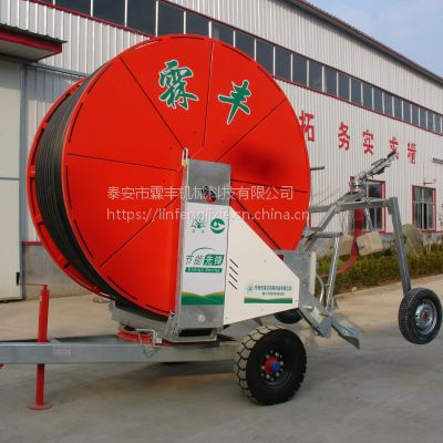 山东移动灌溉设备,JP75-400霖丰盘式喷灌机厂家直销,卷帘喷灌