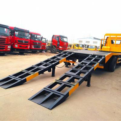 解放J6单桥挖机平板拖车做分期全国可上牌