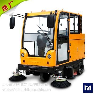咸阳全封闭锂电池扫地车明诺MN-E800LC 小区物业用新型驾驶式扫地车