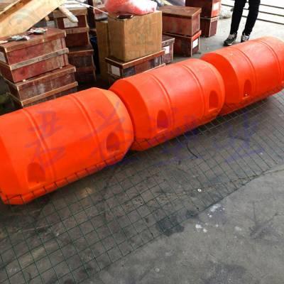 异型浮体区域浮标 直径500*800两半体浮筒浮标 君益pe浮标报价
