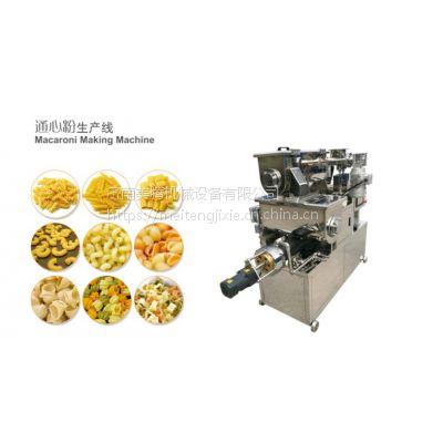两头尖型通心粉大米吸管设备的厂家 可食用米粉吸管多功能面食机