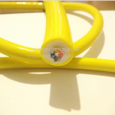 发泡零浮力线两芯电源加2芯单模光纤加双绞屏蔽信号线 防海水腐蚀零浮力复合一体电缆