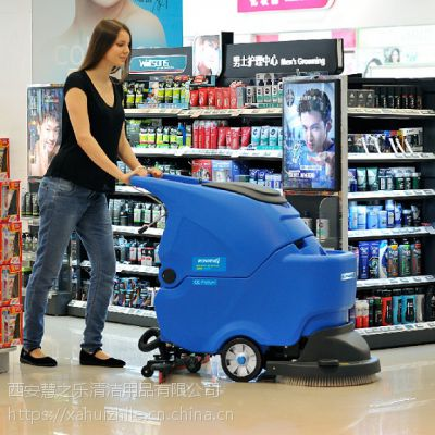 商场小吃城用油渍地面清洗机 手推式洗地机贵不贵 容恩R50B全自动洗地机