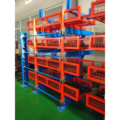 广西悬臂式货架规格 伸缩式管材货架厂家 棒料存放架