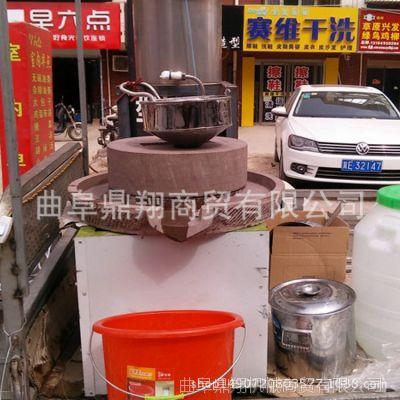 新款电动豆浆石磨机厂家小型传统豆腐石磨价格鼎翔长期供应