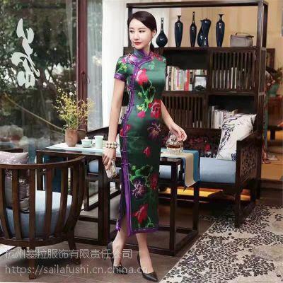 完美身材秀出来17新款旗袍尽在塞拉服饰品牌折扣女装免费加盟