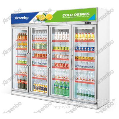 雅绅宝SA20L4F便利店四门保鲜展示柜多少钱一台 厂家直销士多店四门饮料冷柜