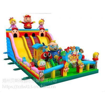 河南平顶山儿童充气滑梯蹦蹦床多造型好玩