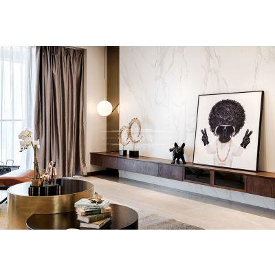 南滨特区大平层装修,豪宅现代轻奢风格完工实景案例高端定制设计