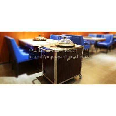 格匠实业供应双层不锈钢移动酒水车豪华三层木质服务车送餐车www.gajum.com
