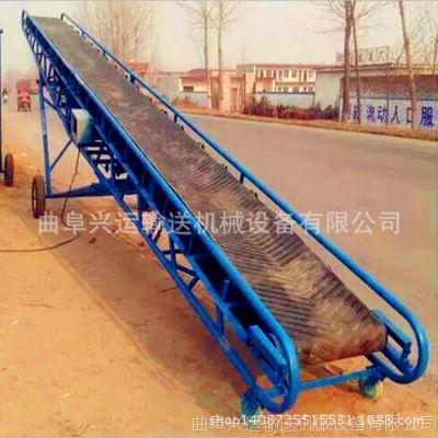 600mm带宽装车用输送机 合肥市大功率袋装粮食装车输送机