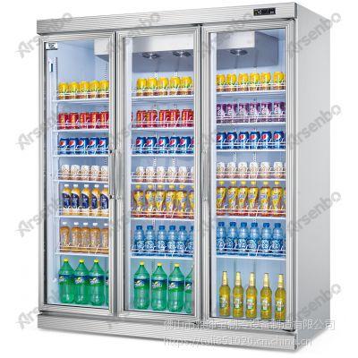 雅绅宝FG18L3F便利店三门平头分体冷藏展示柜多少钱一台?