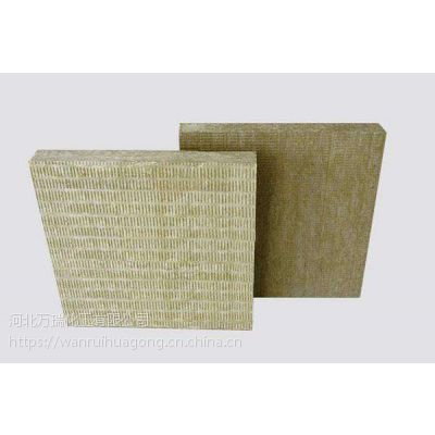 万瑞岩棉板墙面施工价格 岩棉板天然型防火材料