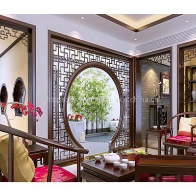 广东德普龙定制铝窗花 复古风铝窗花 港式铝窗花 木纹铝窗花