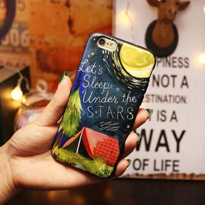 厂家直销浮雕iPhone手机壳 创意梦幻星空手机保护套