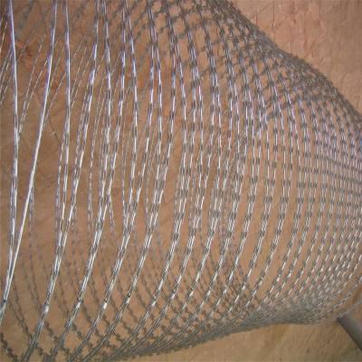 围墙刀片刺网 刀片刺绳 钢刺丝