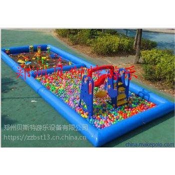 河北承德儿童室外经营的充气沙滩池钓鱼池多少钱