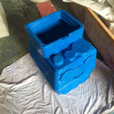 直径1200浮箱浮筒 塑料码头浮箱高52厘米 君益塑料浮箱厂家报价
