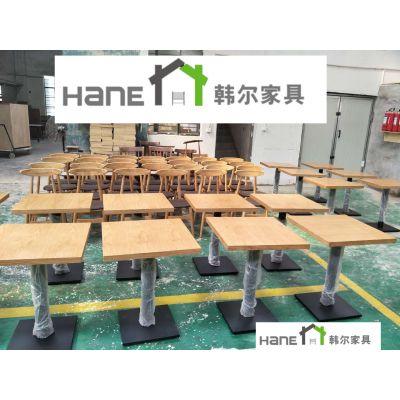 上海咖啡西餐厅桌子定做 简约实木桌子 方桌圆桌定做 上海韩尔