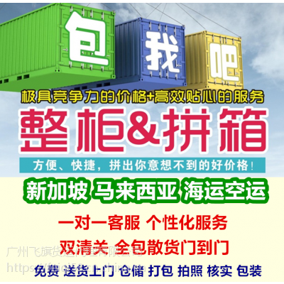 20尺集装箱国际搬家海运新加坡价格 中国-新加坡