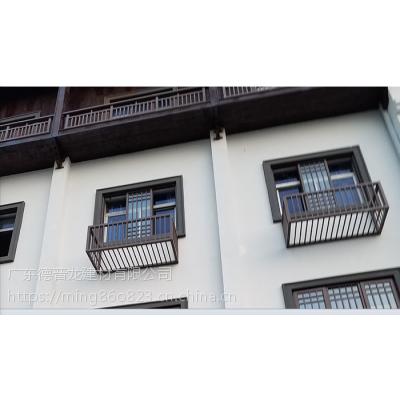 定制珠海商务酒店仿古木纹铝窗花
